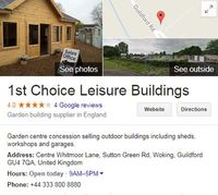 Local Business 1st Choice Leisure Buildings in Woking, Guildford England