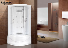 Aluminum Frames Sliding Glass Door Shower Room With Abs Back Panel
