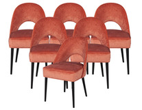 Set of 6 Custom Moderno Mid-Century Modern Dining Chairs by Carrocel