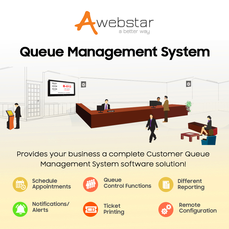 Queue Management System- Awebstar Technologies Pte Ltd.