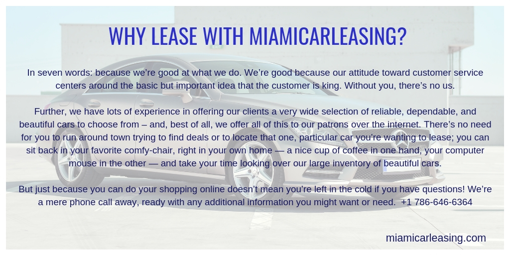 About Car Leases from MiamiCarLeasing