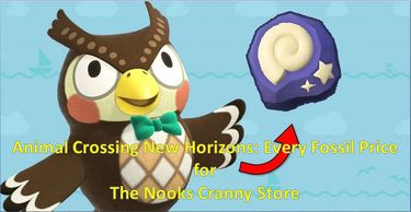 Animal Crossing New Horizons: Every Fossil Price for The Nooks Cranny Store