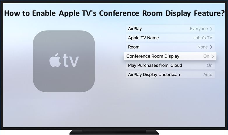 How to Enable Apple TV's Conference Room Display Feature?