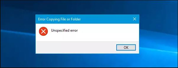 How to Fix 80004005 Unspecified Error While Copying File In Window 10